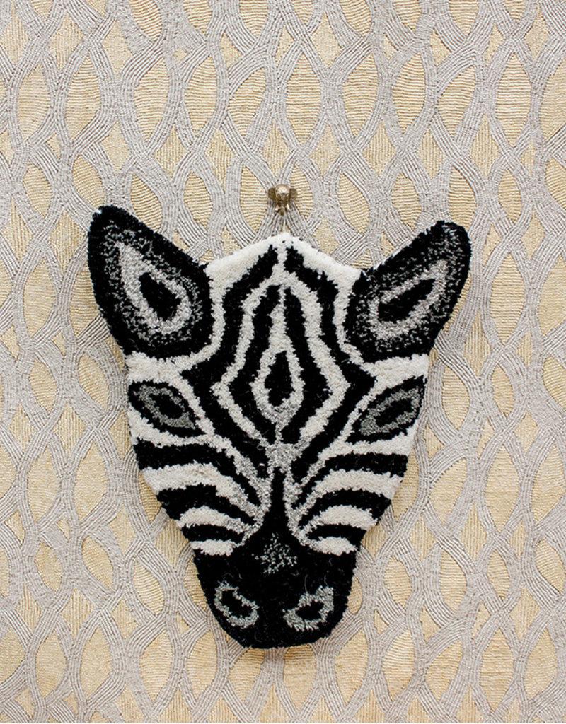 Doing Goods A Zebra Head Carpet / Rug