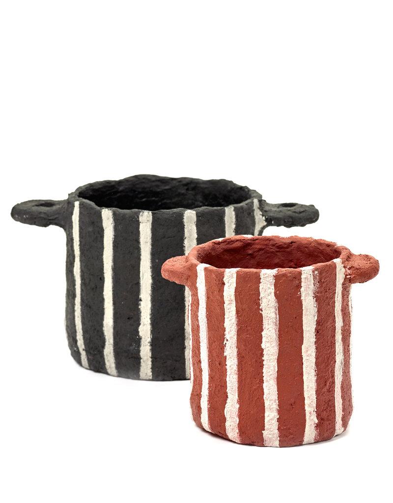 SERAX Plant Pot - Papier-Mâché - Black