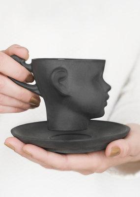 ENDE Doll Head Cup - Black Porcelain