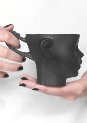 ENDE Doll Head Mug - Black Porcelain