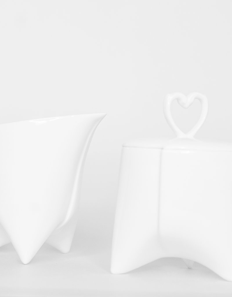ENDE Milk Jug - White Porcelain