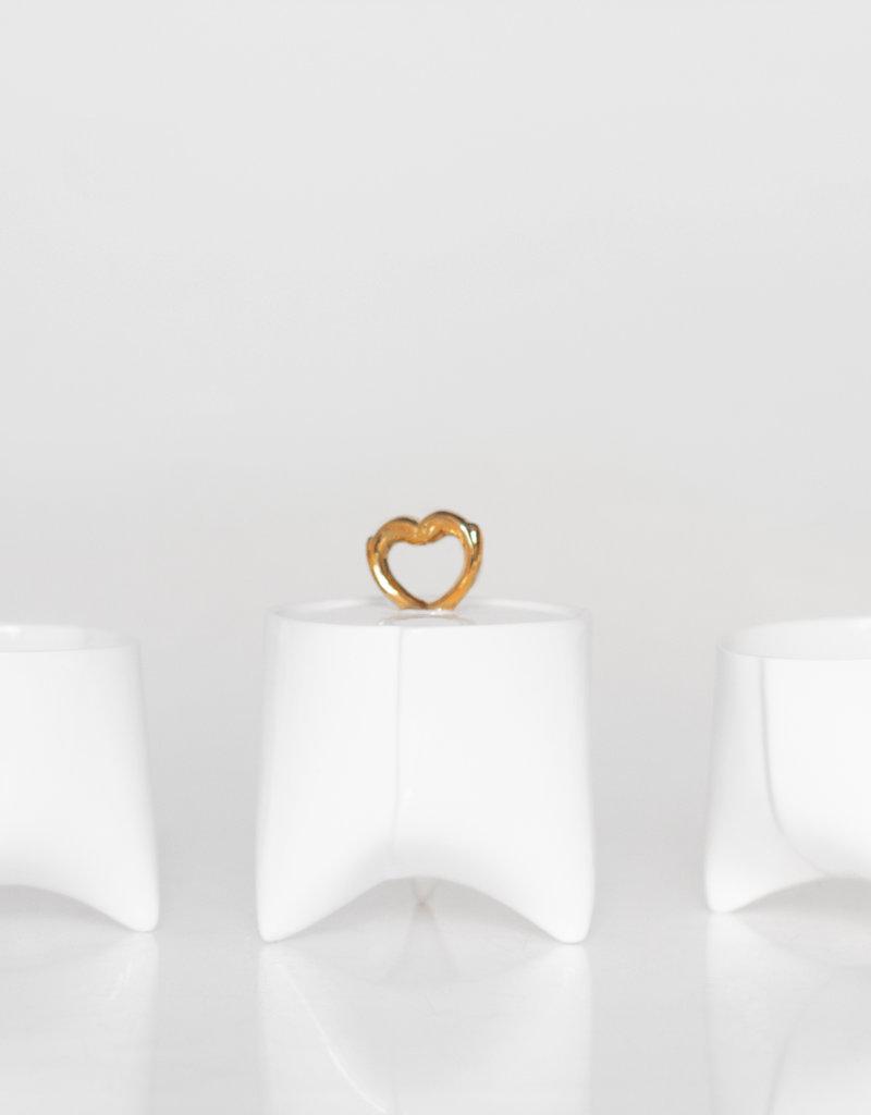 ENDE Sugar Bowl White & Gold