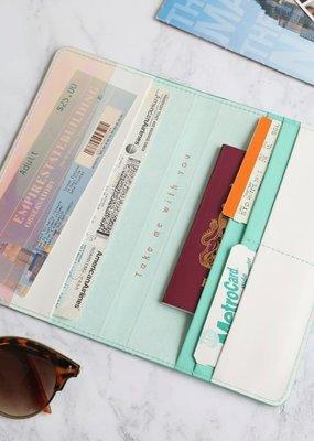 Lisa Angel Travel Wallet - Turquoise