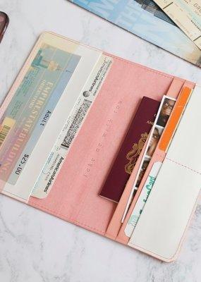 Lisa Angel Travel Wallet - Pink Peach
