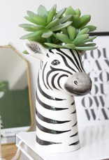Lisa Angel Ceramic Zebra Head Vase