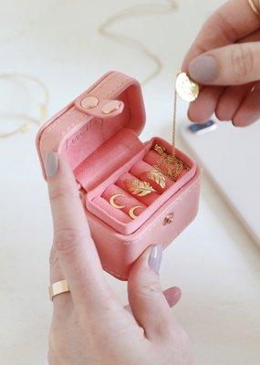 Lisa Angel Ring Box - Pink Peach