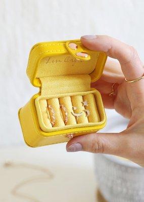 Lisa Angel Ring Box - Mustard Yellow