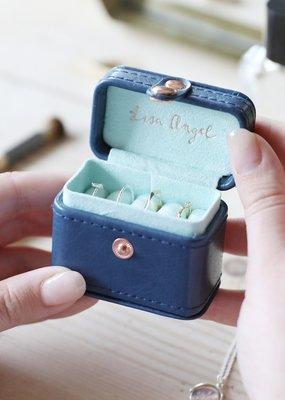 Lisa Angel Ring Box - Navy & Mint Green