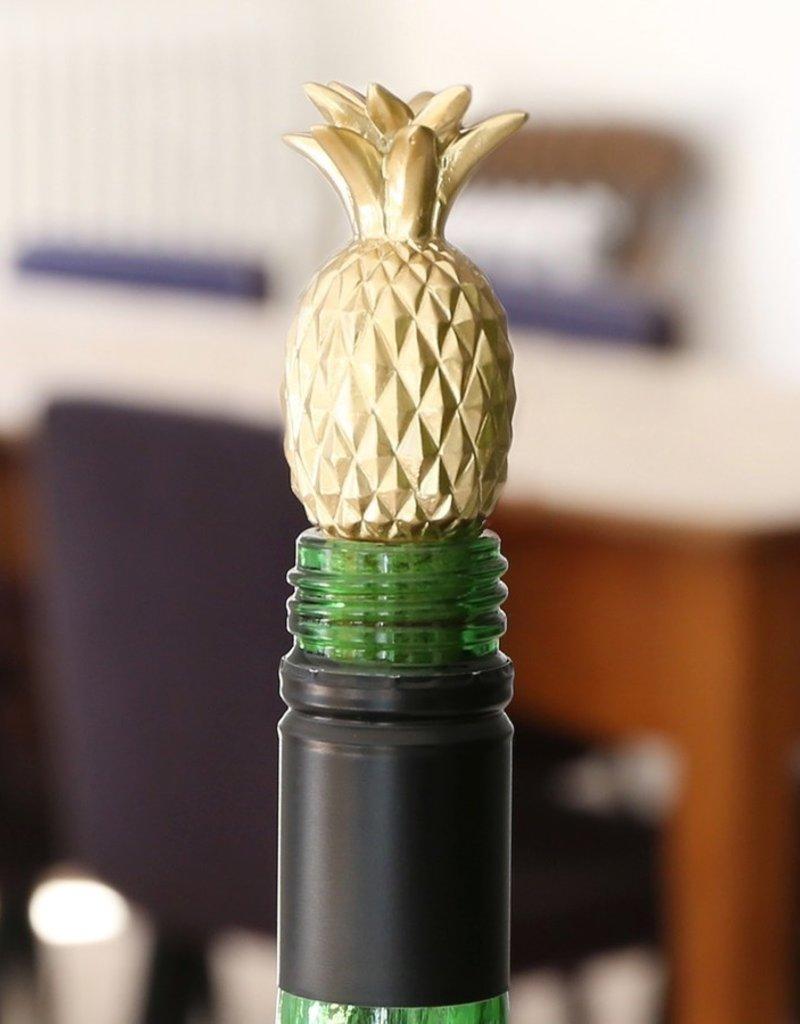Lisa Angel Gold Pineapple Bottle Stopper