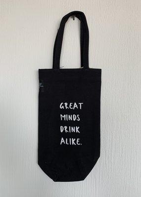 NEUF Brussels Bottle Bag - Great Minds Drink Alike