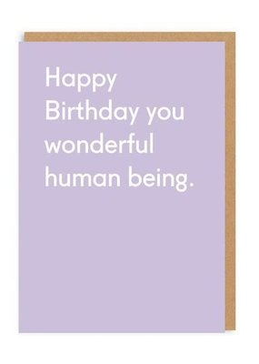 OHH DEER Birthday - Wonderful Human Being