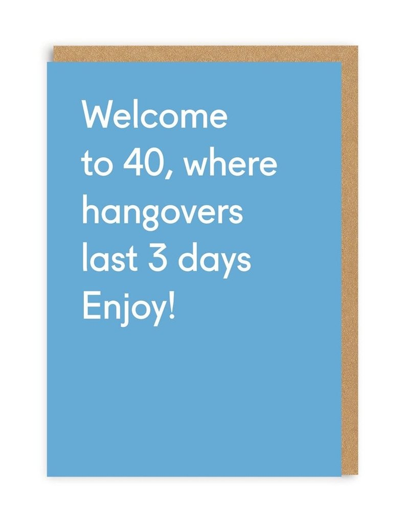 OHH DEER Birthday - Welcome to 40