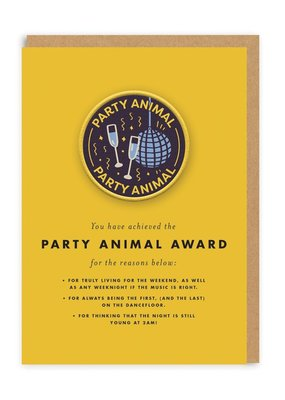 OHH DEER Birthday - Party Animal Award + Patch
