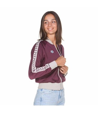 Arena Dames Relax Iv Team Jacket redwine-coolgrey-redwine