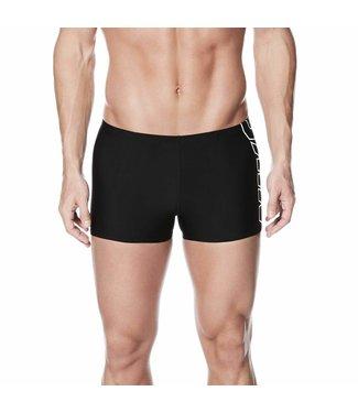 Nike Swim Performance Square Leg NIKE Logo Zwart