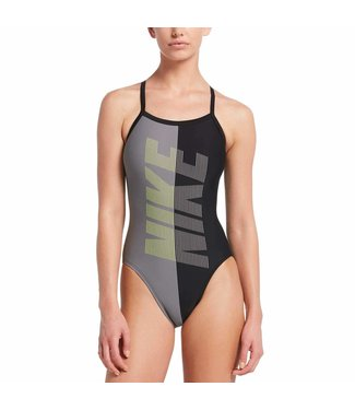 Nike Swim Rift Racerback Zwart