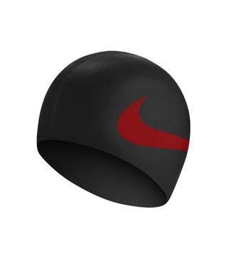 Nike Swim Swim Training Big Swoosh cap Zwart Rood