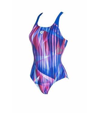Arena W Shading Prism Swim Pro Back One Piece Blauw - Multi