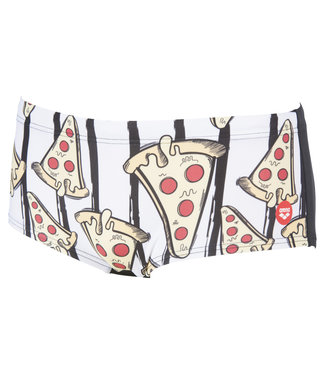 Arena Crazy Pizza Low Waist Short - Wit/Multi