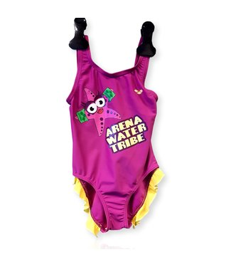 Arena Water Tribe Kids Girl One Piece - Paars/Geel