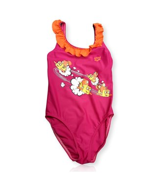 Arena KG Swash Kids Girl One Piece - Roze/Oranje