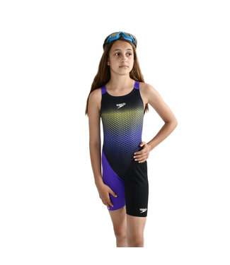 Speedo Fastskin Junior Endurance Open Back Kneeskin - Blauw/Paars