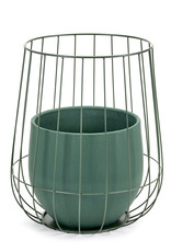 serax Pot in cage ∅37 - Green