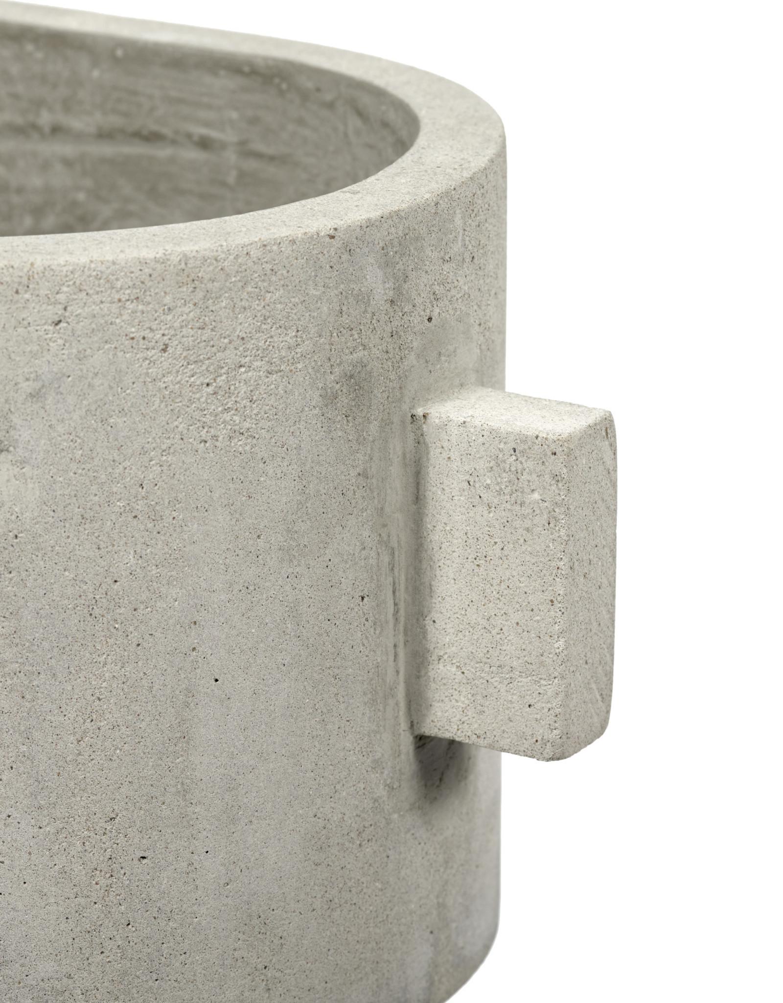 serax Concrete Oval Pot 21x15 h13