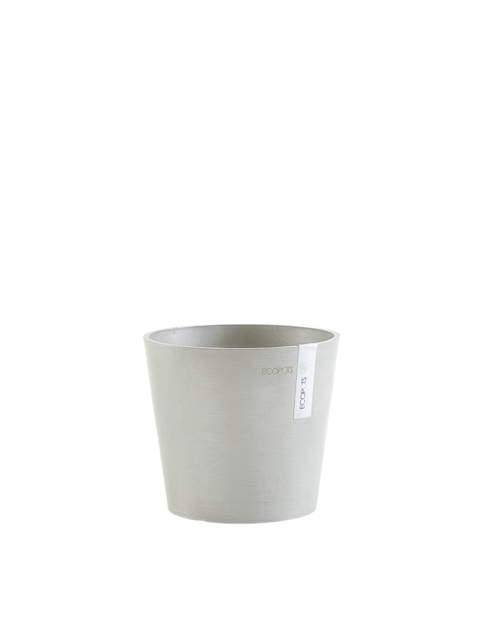 Ecopots Ecopot 'Amsterdam' - White Grey ∅20