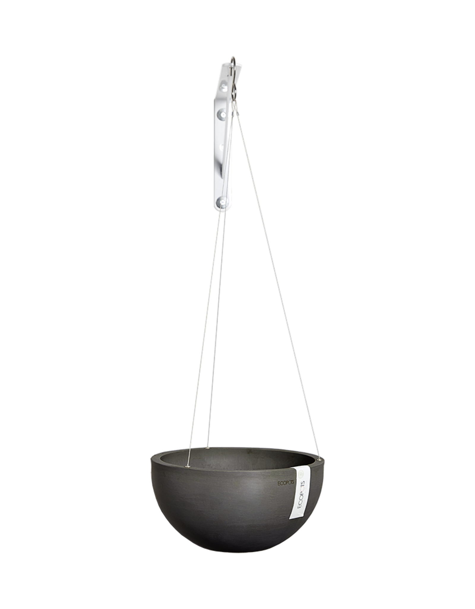 Ecopots Hanging Ecopot 'Brussels' - Dark Grey ∅27
