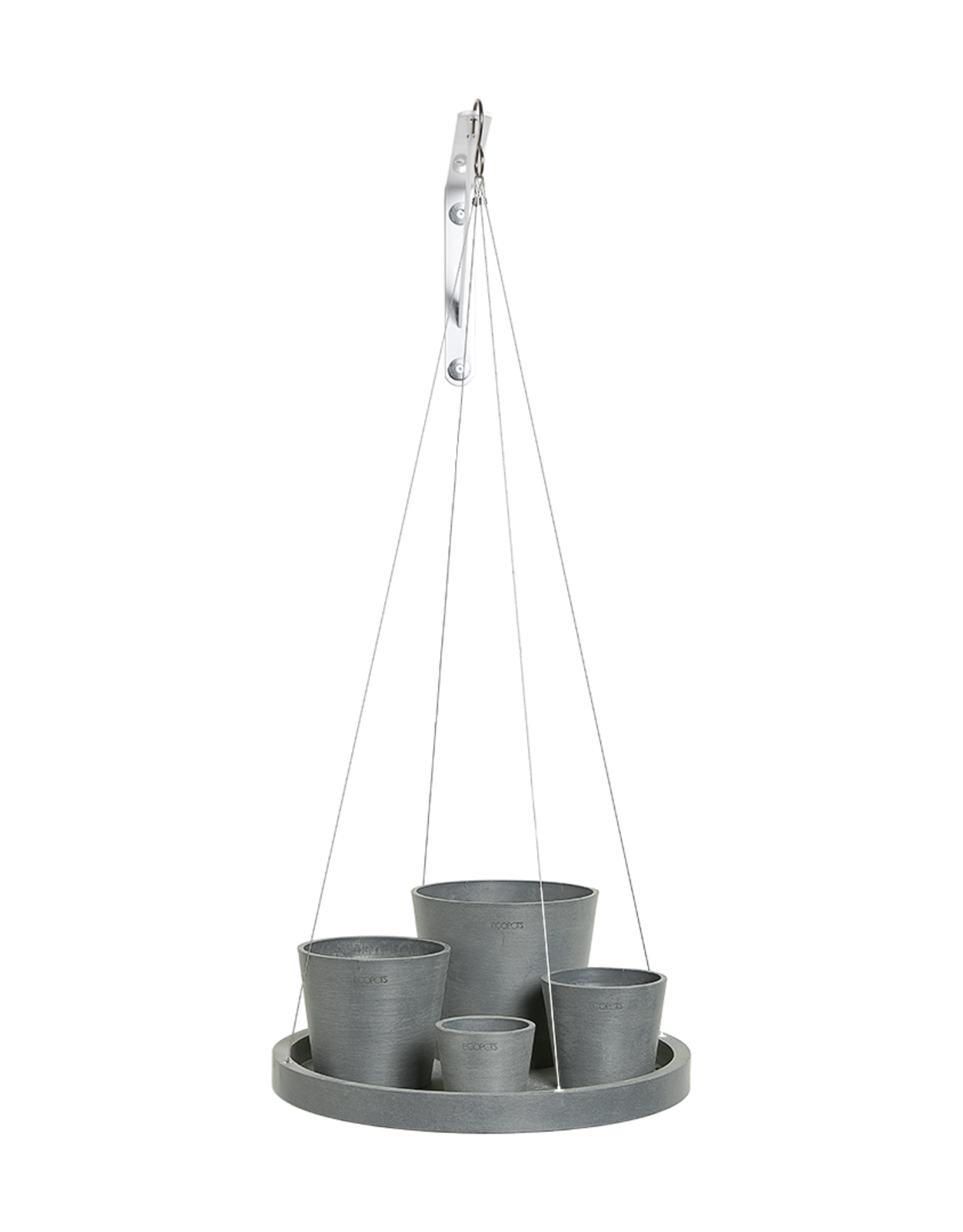 Ecopots Hanging saucer - Blue Grey ∅36