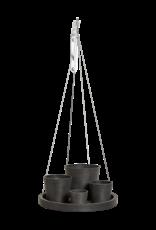 Ecopots Hanging saucer - Dark Grey ∅36