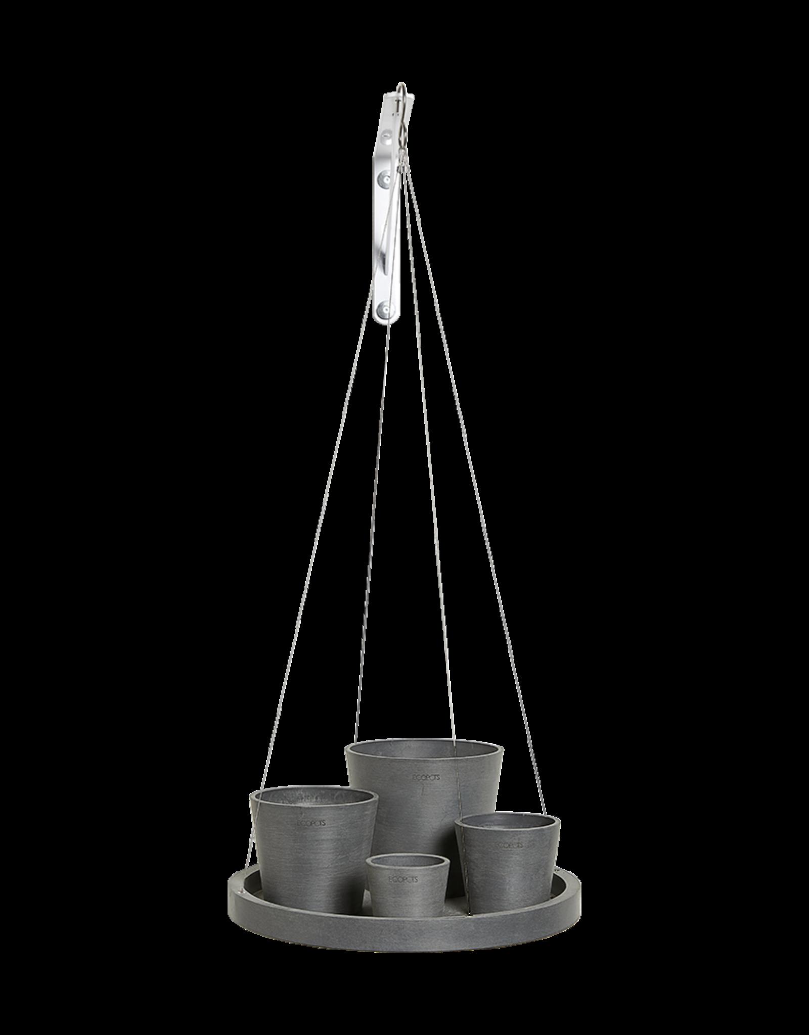 Ecopots Hanging saucer - Grey ∅36