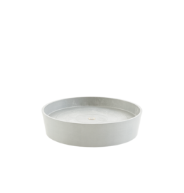 Ecopots Saucer on Wheels - White Grey ∅50