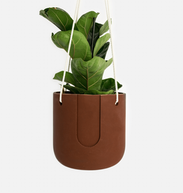 House Raccoon Nelson Hanging Planter - Maroon Brown Ø 15 cm