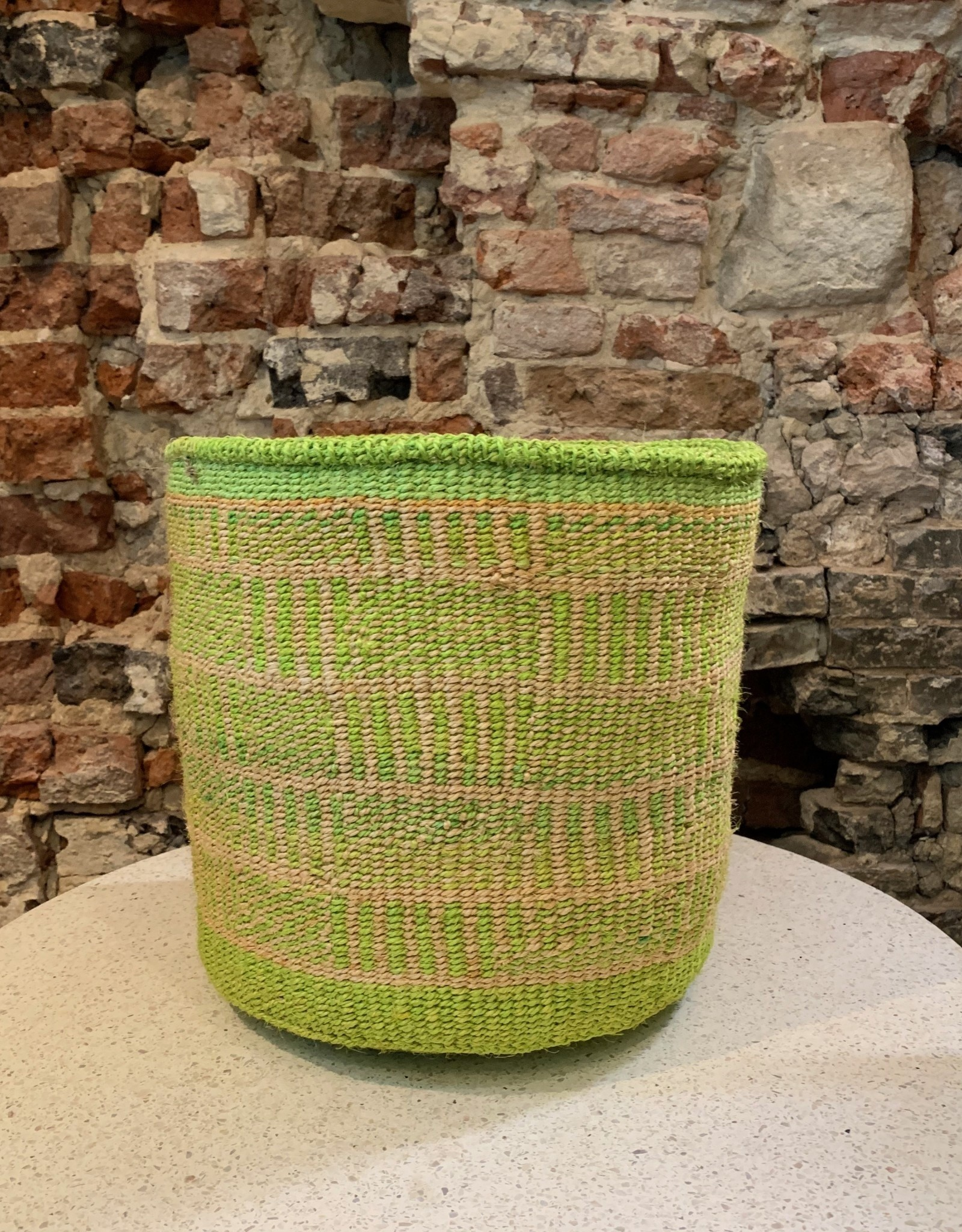 Solid Crafts Hadithi Basket L - green by Roda