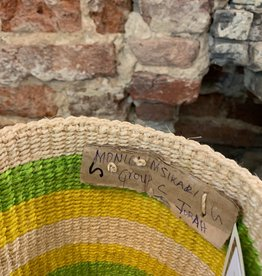 Solid Crafts Hadithi Basket S - green/yellow by Monica