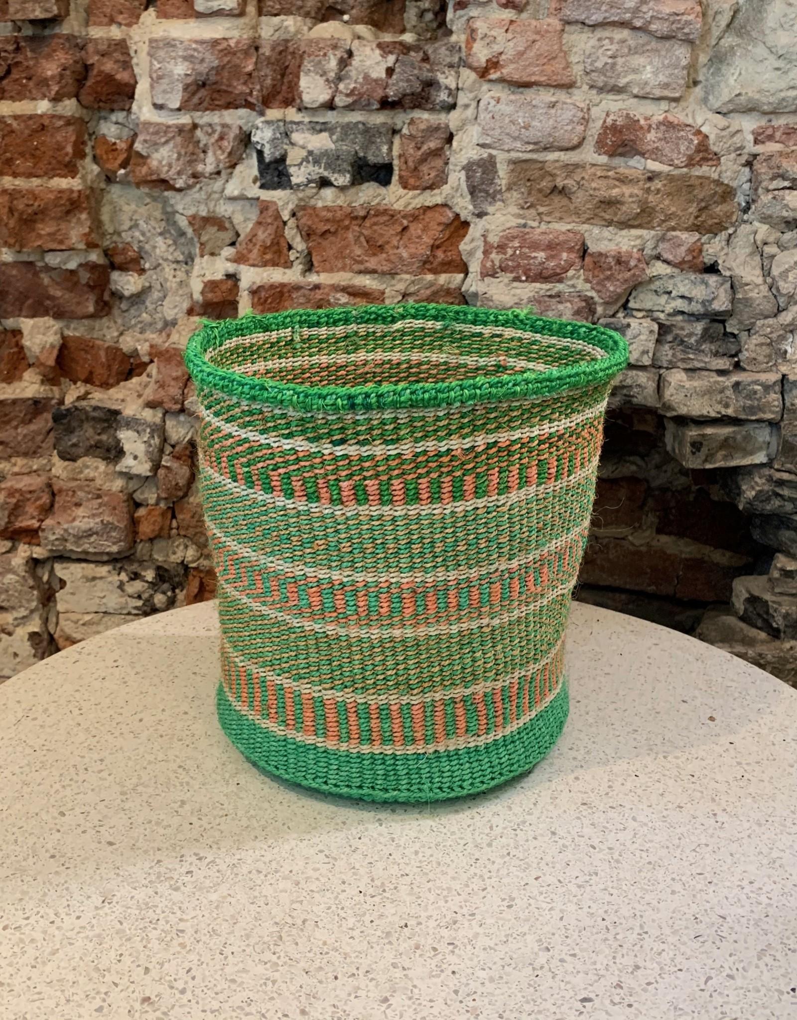 Solid Crafts Hadithi Basket M - green
