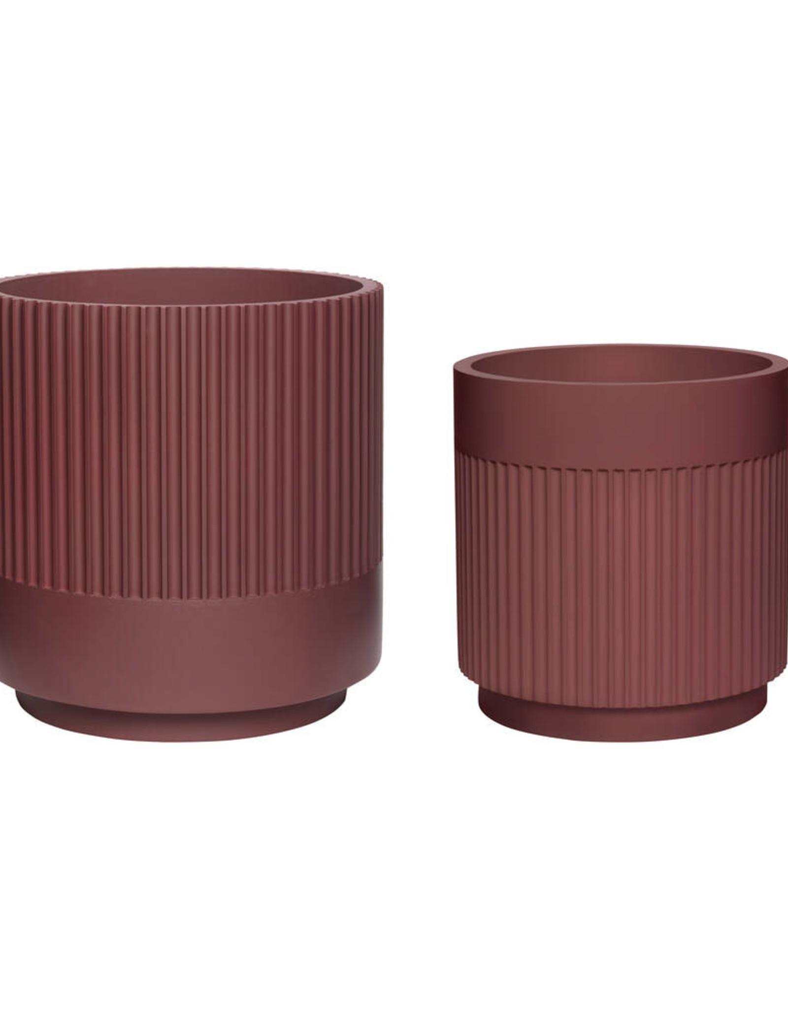 Hübsch Plaster Pot - Bordeaux ø30xh31