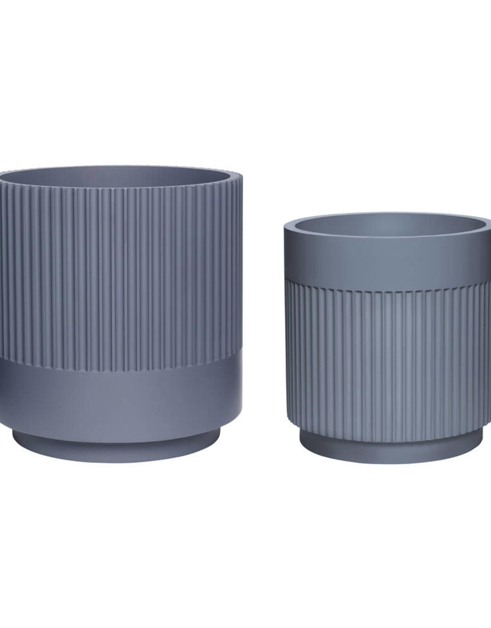 Hübsch Plaster Pot - Dark Grey ø30xh31