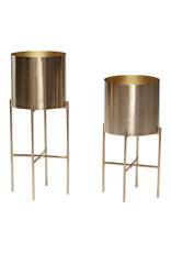 Hübsch Golden Pot w/ legs ø25xh45