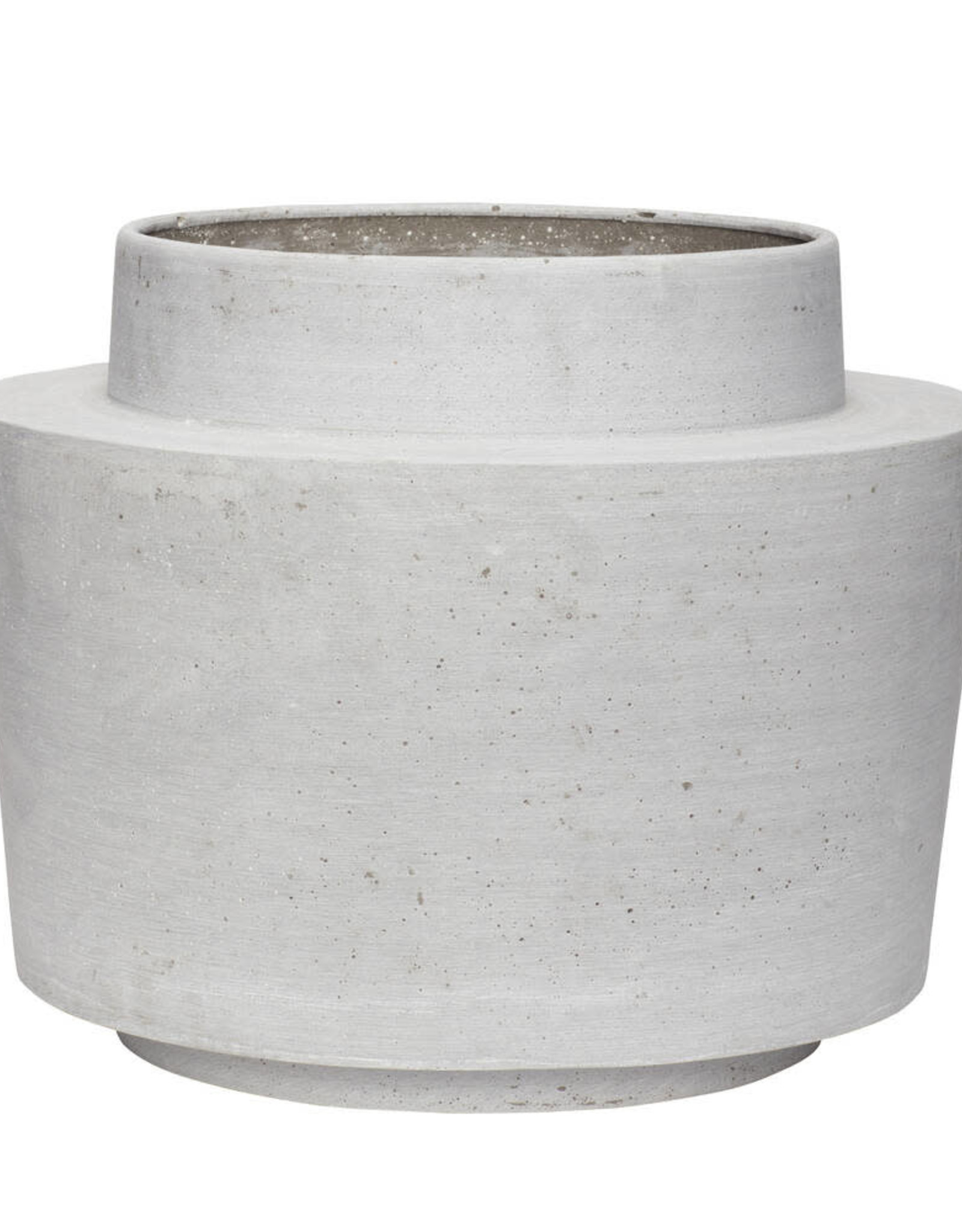Hübsch Fiberstone Pot - Grey ø31xh36