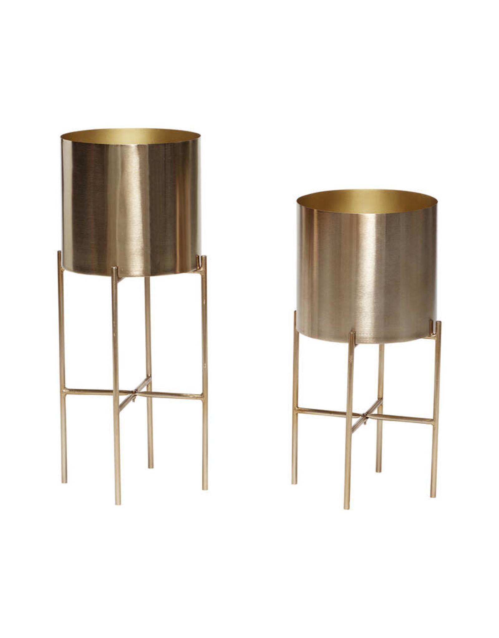 Hübsch Gouden pot op poten Ø23 h55