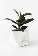 House Raccoon Mare Planter - Large - White Marble Ø 8,5 cm