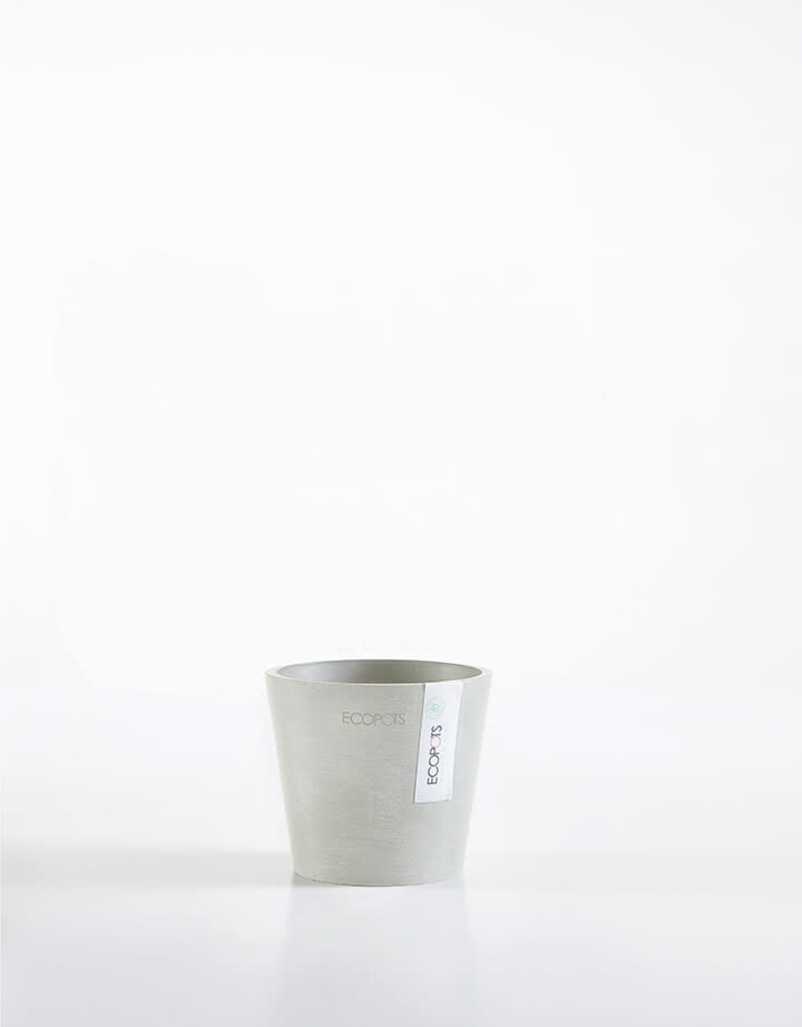 Ecopots Ecopot 'Amsterdam' - Mini White Grey ∅10