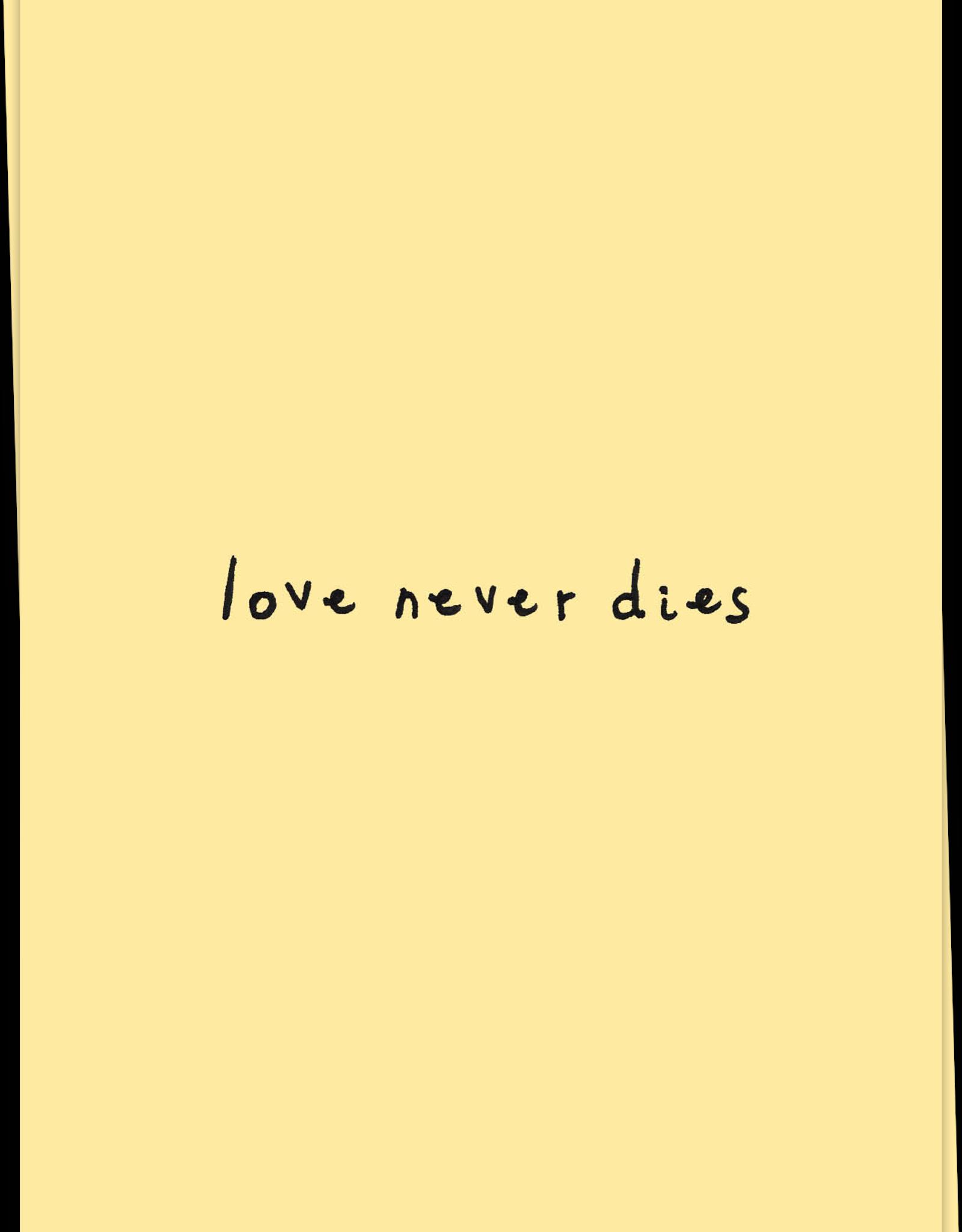 Kaart Blanche Love never dies