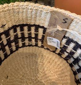 Hadithi Basket S - black & white by Jane