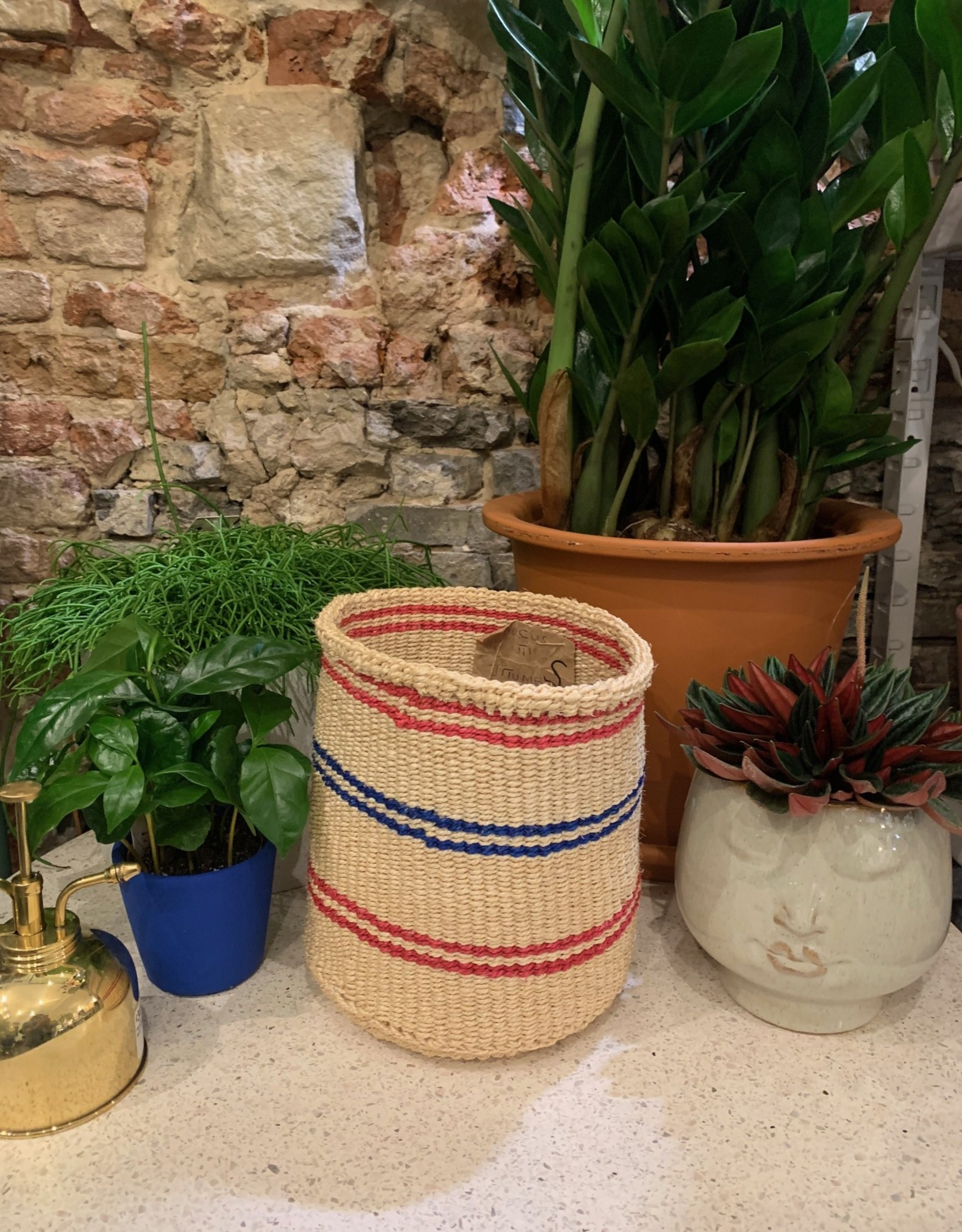 Hadithi Basket S - pink & blue by Doreus