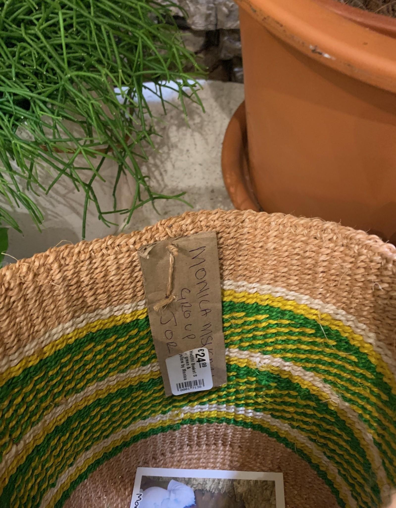 Hadithi Basket S - green & yellow by Monica