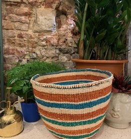 Hadithi Basket S - green & brown by Joyce